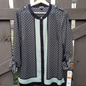 Dana Buchman Size 10 Womens Long Sleeve Blouse